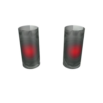 Large Round Shot Glass 2 Set - Android Nucleus