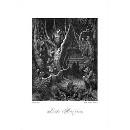 Brute Harpies, Dante's Inferno Replica - A3 print