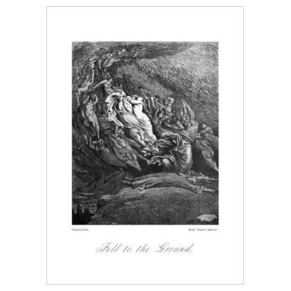 Fell to the Ground, Dante's Inferno Replica - A3 print