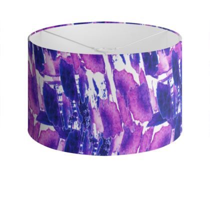 Violet Medusa Drum Lamp Shade