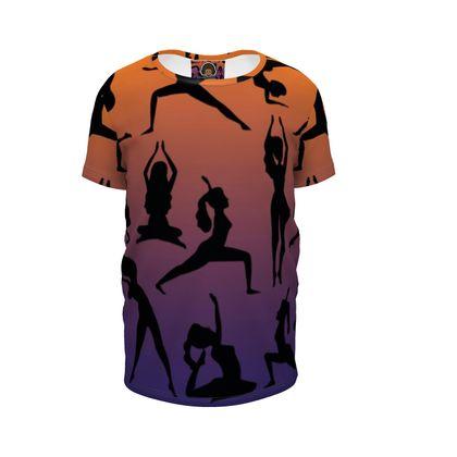 Girls Premium T-Shirt - Burnt Sunset Yoga Poses