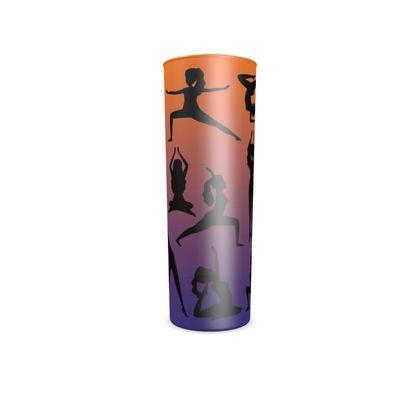 Hi Ball Glass - Burnt Sunset Yoga Poses