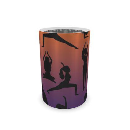 Wine Bottle Cooler - Burnt Sunset Yoga Poses