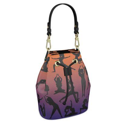 Bucket Bag - Burnt Sunset Yoga Poses