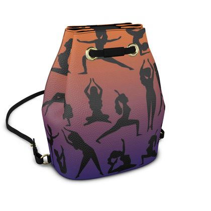 Bucket Backpack - Burnt Sunset Yoga Poses