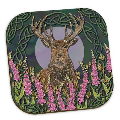 Celtic Stag Coaster Set