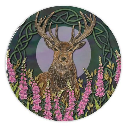Celtic Stag China Plate