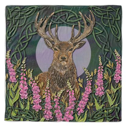 Celtic Stag Throw Blanket