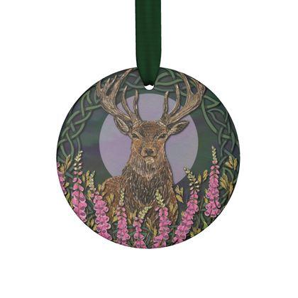 Celtic Stag Handmade Hanging Ornament