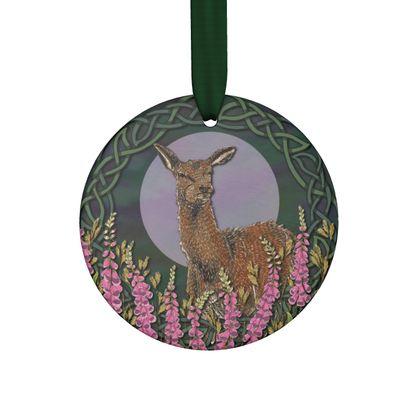 Celtic Doe Handmade Hanging Ornament