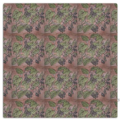 'Alder Leaf' Throw in Pink and Green