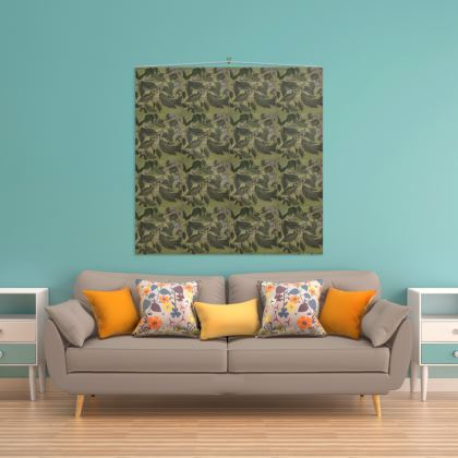 'Beech Leaf' Wall Hanging in Green