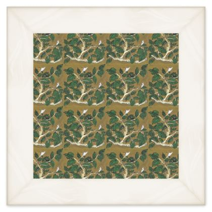 'Hornbeam' Double Quilt in Green and Brown