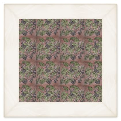 'Alder Leaf' Double Quilt in Pink and Green