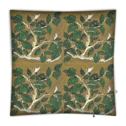 'Hornbeam' Floor Cushion in Green and Brown