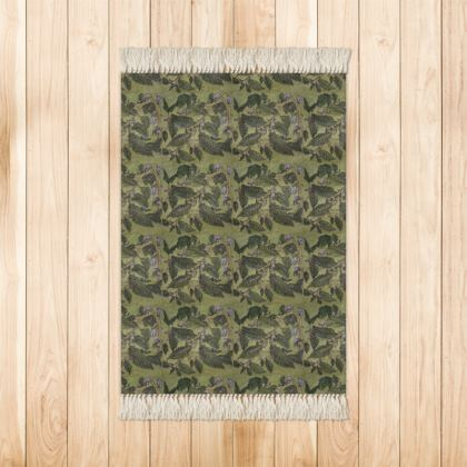 'Beech Leaf'' Rug in Green.