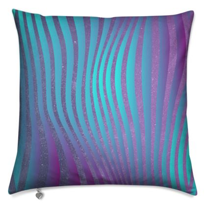 Cushions - Emmeline Anne Glamorous Stripes Ocean Blues