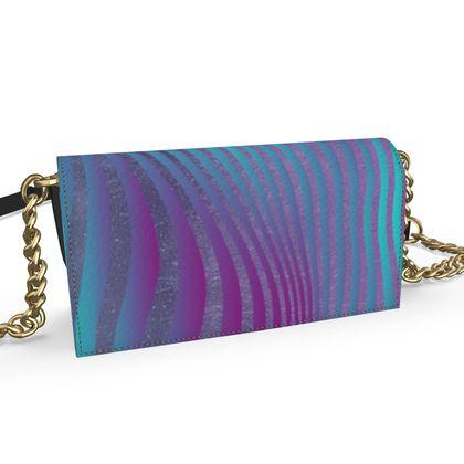 Oana Evening Bag - Emmeline Anne Glamourous Stripes Ocean Blues