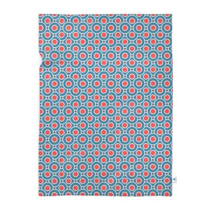 Japanese summer - Blanket - Geometric shapes, abstract, blue and red, circles, elegant vintage, trendy, sophisticated stylish gift, modern, sports, spectacular retro - design by Tiana Lofd