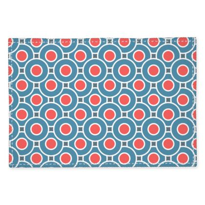 Japanese summer - Fabric Placemats - Geometric shapes, abstract, blue and red, circles, elegant vintage, trendy, sophisticated stylish gift, modern, sports, spectacular retro - design by Tiana Lofd