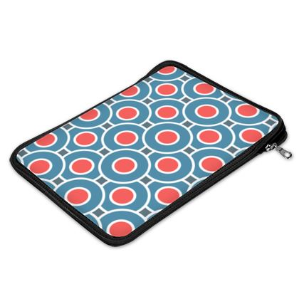 Japanese summer - iPad Air Slip Case  - Geometric shapes, abstract, blue and red, circles, elegant vintage, trendy, sophisticated stylish gift, modern, sports, spectacular retro - design by Tiana Lofd