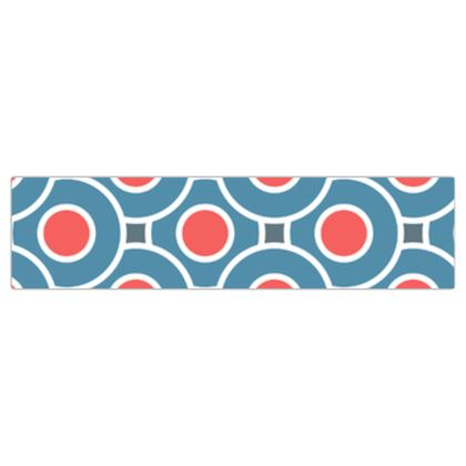 Japanese summer - Dog Lead - Geometric shapes, abstract, blue and red, circles, elegant vintage, trendy, sophisticated stylish gift, modern, sports, spectacular retro - design by Tiana Lofd