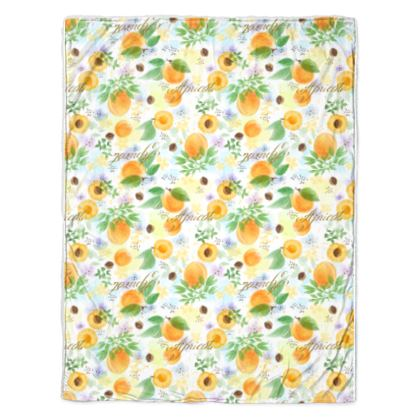 Little sun - Throw - fruit design, apricots, sunny, orchard, yellow, bright, natural food, garden, hand-drawn floral, summer gift - design by Tiana Lofd