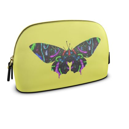 Large Premium Nappa Make Up Bag - Butterfly
