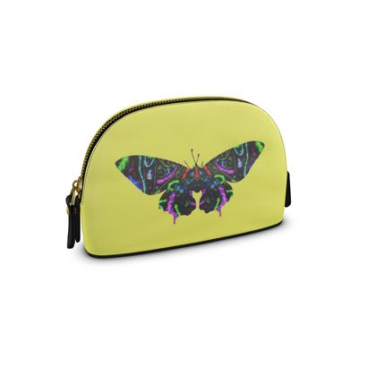 Small Premium Nappa Make Up Bag - Butterfly