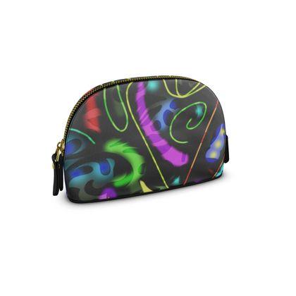 Small Premium Nappa Make Up Bag - Neon