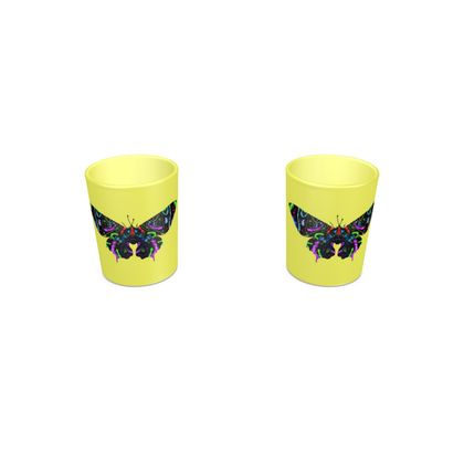 Round Shot Glass 2 Set - Butterfly