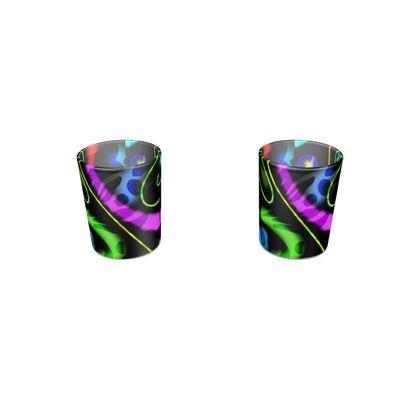 Round Shot Glass 2 Set - Neon