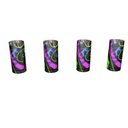Large Round Shot Glass 4 Set - Neon