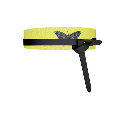 Leather Wrap Belt - Butterfly