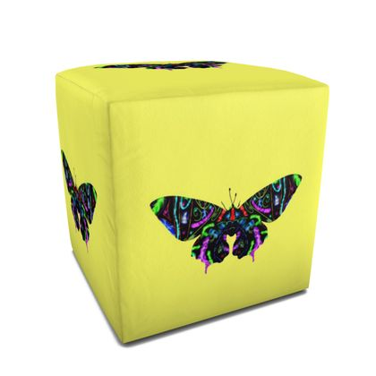 Square Pouffe - Butterfly