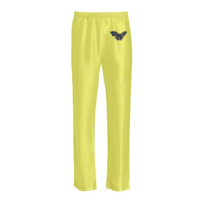 Ladies Silk Pyjama Bottoms - Butterfly