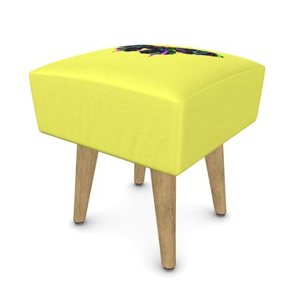 Square Footstool - Butterfly