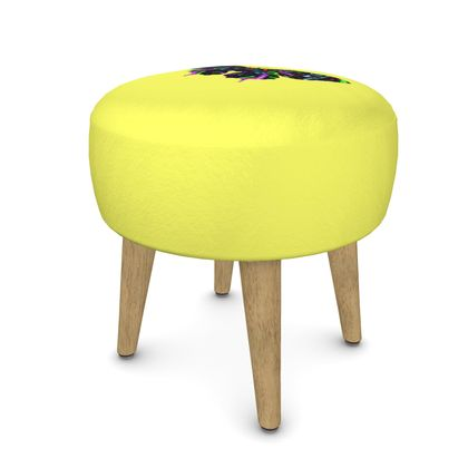 Round Footstool - Butterfly