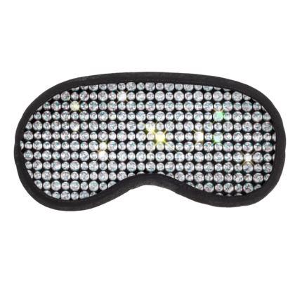 Diamond glamor - Eye Mask - shiny crystals, chic, black and white, sparkling, precious, humor, looks expensive, rhinestones, glitter, jewelery, glamorous fun gift - design by Tiana Lofd