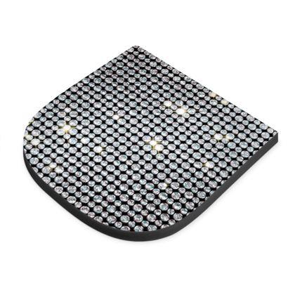 Diamond glamor - Seat Pad - Brilliant crystals, chic, black and white, sparkling, precious, humor, looks expensive, rhinestones, glitter, jewelery, glamorous fun gift - design by Tiana Lofd