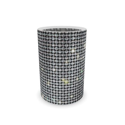 Diamond glamor - Wine Bottle Cooler - Brilliant crystals, chic, black and white, sparkling, precious, humor, looks expensive, rhinestones, glitter, jewelery, glamorous fun gift - design by Tiana Lofd