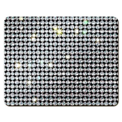 Diamond glamor - Placemats - Brilliant crystals, chic, black and white, sparkling, precious, humor, looks expensive, rhinestones, glitter, jewelery, glamorous fun gift - design by Tiana Lofd