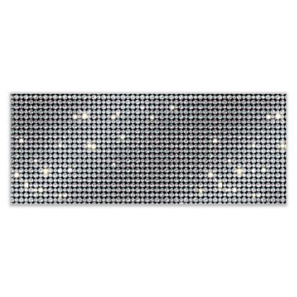 Diamond glamor - Table Runner - Brilliant crystals, chic, black and white, sparkling, precious, humor, looks expensive, rhinestones, glitter, jewelery, glamorous fun gift - design by Tiana Lofd