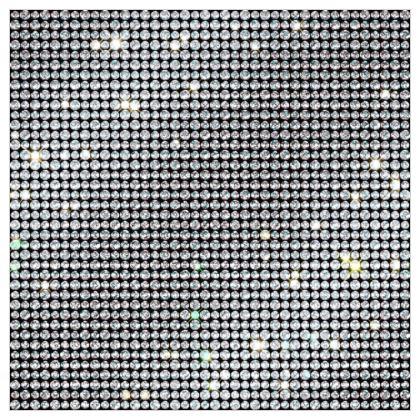 Diamond glamor - Fabric Printing - Brilliant crystals, chic, black and white, sparkling, precious, humor, looks expensive, rhinestones, glitter, jewelery, glamorous fun gift - design by Tiana Lofd