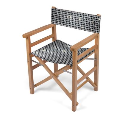 Diamond glamor - Directors Chair - Brilliant crystals, chic, black and white, sparkling, precious, humor, looks expensive, rhinestones, glitter, jewelery, glamorous fun gift - design by Tiana Lofd