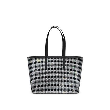 Diamond glamor - Kika Tote - Brilliant crystals, chic, black and white, sparkling, precious, humor, looks expensive, rhinestones, glitter, jewelery, glamorous fun gift - design by Tiana Lofd