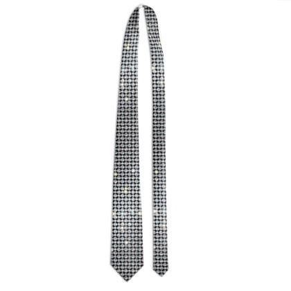 Diamond glamor - Tie - shiny crystals, chic, black and white, sparkling, precious, humor, looks expensive, rhinestones, glitter, jewelery, glamorous fun gift - design by Tiana Lofd