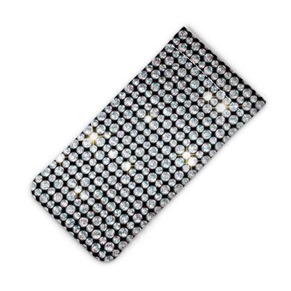 Diamond glamor - iPhone Slip Case - Brilliant crystals, chic, black and white, sparkling, precious, humor, looks expensive, rhinestones, glitter, jewelery, glamorous fun gift - design by Tiana Lofd