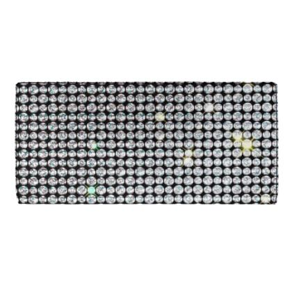 Diamond glamor - Travel Wallet - Brilliant crystals, chic, black and white, sparkling, precious, humor, looks expensive, rhinestones, glitter, jewelery, glamorous fun gift - design by Tiana Lofd