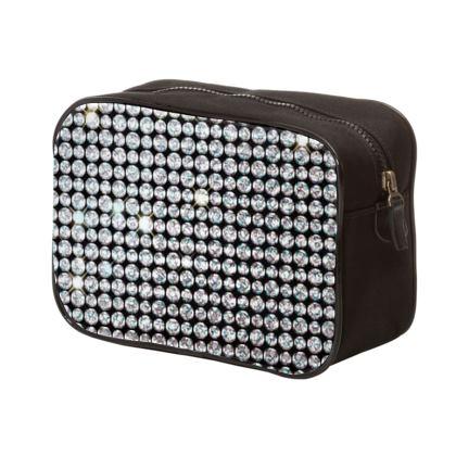 Diamond glamor - Mens Washbag - shiny crystals, chic, black and white, sparkling, precious, humor, looks expensive, rhinestones, glitter, jewelery, glamorous fun gift - design by Tiana Lofd